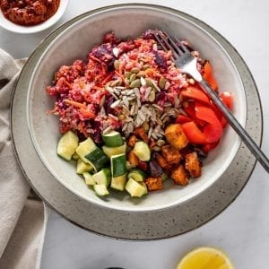 Beetroot & Chermoula Bulgur home meal