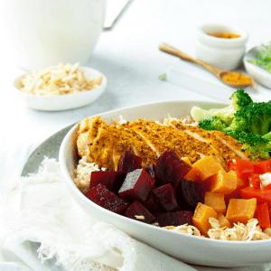 Lean + Tone Moroccan Chicken Buddha Bowl