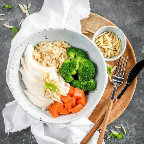 LEAN TONE NAKED TENDER CHICKEN GREENS RICE