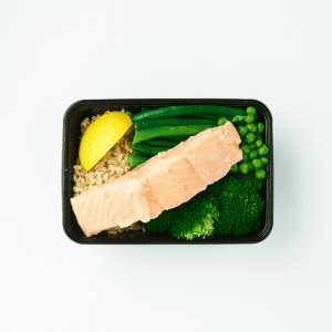 Lean + Tone Poached Salmon, Greens & Rice-011