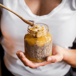 Mango Macadamia Chia Pudding