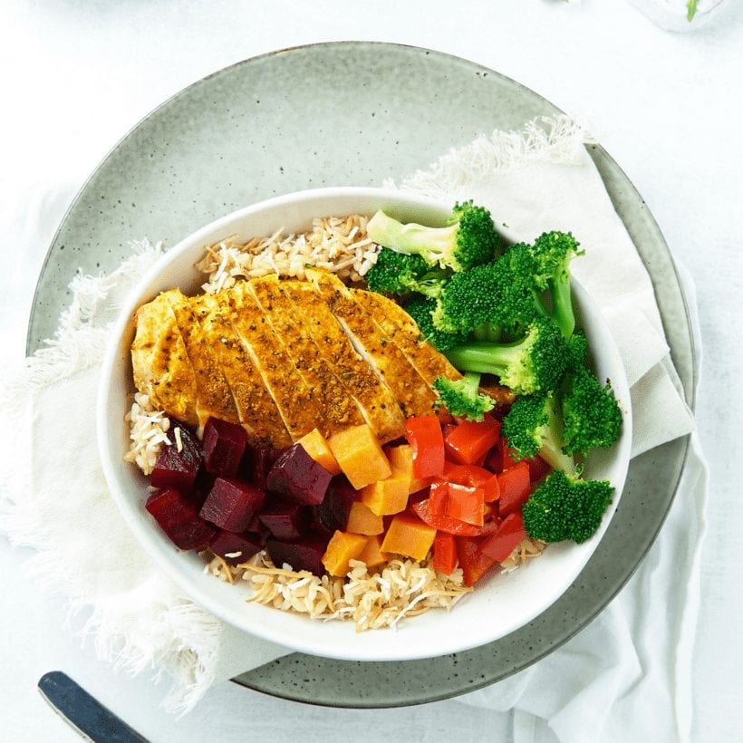 Moroccan Chicken Buddha Bowl-00943