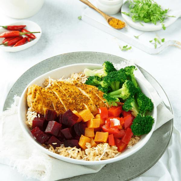 Moroccan Chicken Buddha Bowl