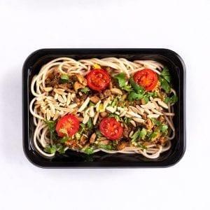 Mushroom & Almond Spaghetti-001