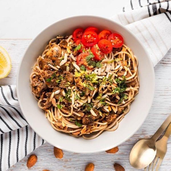 Mushroom & Almond Spaghetti-01