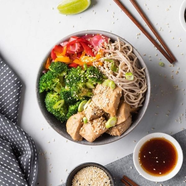 Miso Yellowfin Tuna & Soba Noodle home meal
