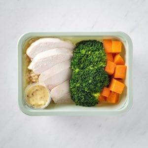 Naked Tender Chicken, Greens + Rice