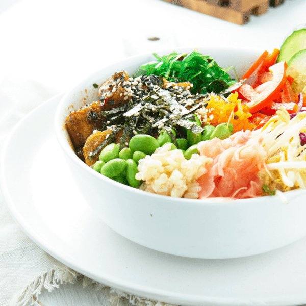 Pan Seared Tofu Poke Bowl