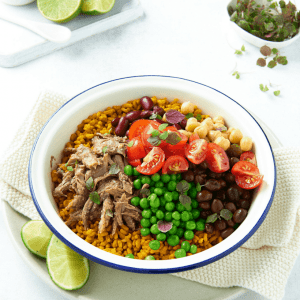Slow Cooked Lamb Burrito Bowl