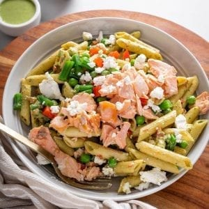 Smoked Salmon & Basil Pasta