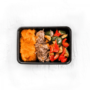 Sumac Spiced Lamb w Moroccan Vegetables + Sweet Potato Mash