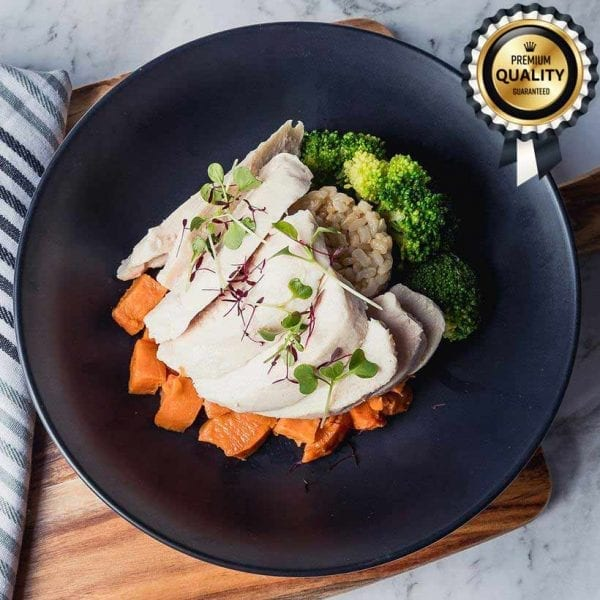 Weight Loss Naked Tender Chicken, Greens + Rice (300g)