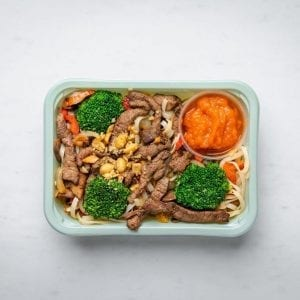beef noodle box pre made meal
