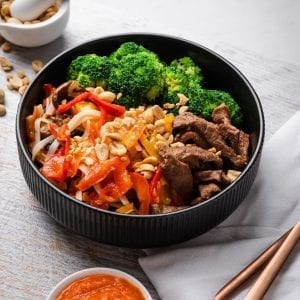 beef noodle bowl pre made meal