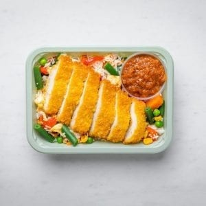 Katsu square container pre made meal