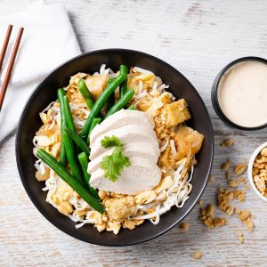 Chicken pad thai bowl