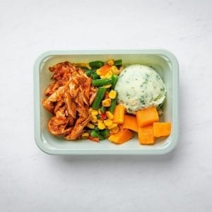 Pork mash square box-pre made meal