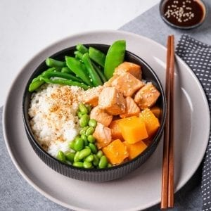 salmon rice bowl-2 pre made meal