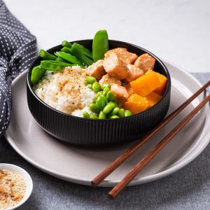 salmon rice bowl pre made meal