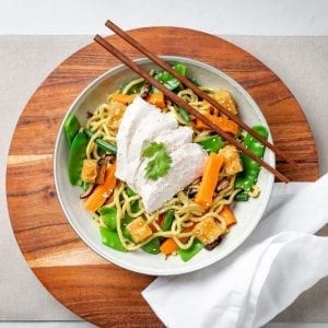 Chicken Noodle stir fry bowl-2-pre made meal