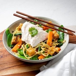 Chicken Noodle stir fry bowl-pre made meal