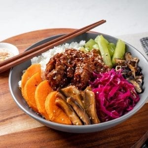 beef bibimbap bowl-pre made meal