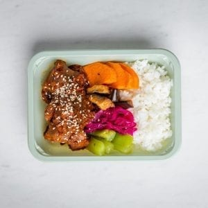 beef bibimbap square box