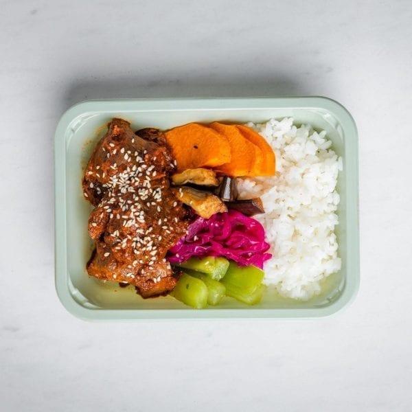 beef bibimbap square box