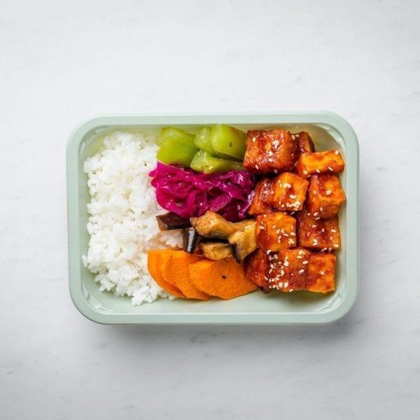 fresh tofu bibimbap