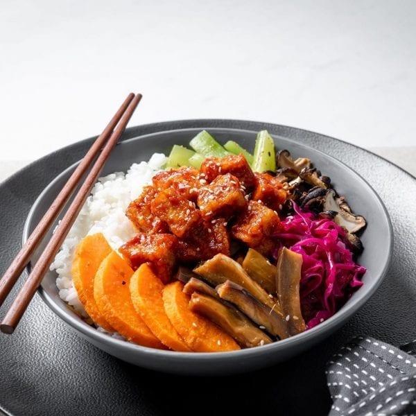 tofu bibimbap bowl