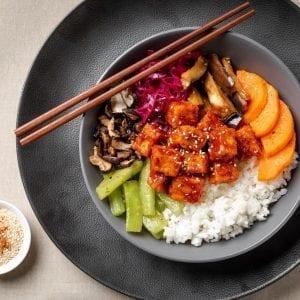 tofu bibimbap-pre made meal