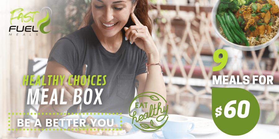 Healthy choices meal box